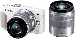 パナソニック ルミックス ミラーレス一眼カメラ ルミックス GF6 ダブルズームレンズキット 標準ズームレンズ/望遠ズームレンズ付属 ホワイト DMC-GF6W-W
