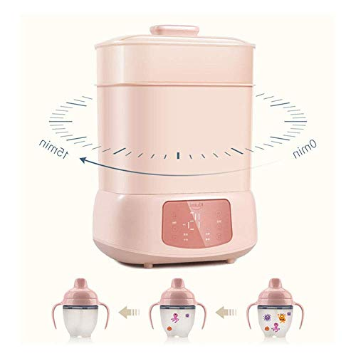 Baby Bottle Sterilizer and Dryer Multifunctional Electric Steam Sterilizer, Intelligent Baby Bottle Disinfectant Automatic Thermostat Travel Steriliser for Baby Child ZHNGHENG