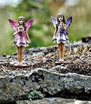 HomeZone enchanté Miniature fée Figurines Jardin de fées Décorations Pixie Bois elfs Forrest fées décoration d'arbre Jardin ou Domestique Décorations - 3Pc Forrest Fairies