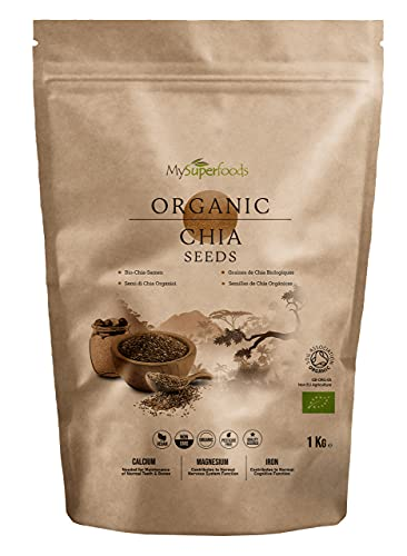 MySuperfoods Organic Chia Seeds 1kg, Natural Source of Omega-3 & Protein