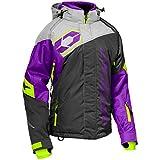 Castle X Code Women's Snowmobile Jacket - Charcoal/Silver/Grape (LRG)