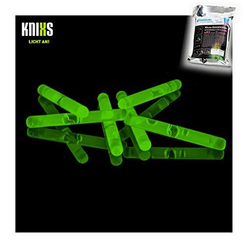 Micro / Mini Knicklichter Bulk Pack - 50 Stück/Tüte - Grün Leuchtend für Party / Angelsport (Bissanzeiger) / Luftballons / als Dekoration für Ketten, Ohringe oder Haarschmuck