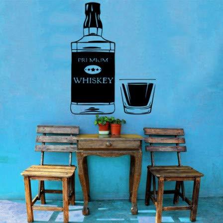 nobrand wandtattoo Wein Vinyl Wandkunst Aufkleber Dekoration Bar Dekoration Aufkleber Aufkleber Wandbild Wandaufkleber 57x32cm