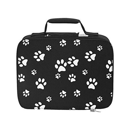 Animal Dog Puppy Paw Print Black Beach Cooler aislado a prueba de fugas Beach Cooler Bag aislado 9.51 × 3.15...