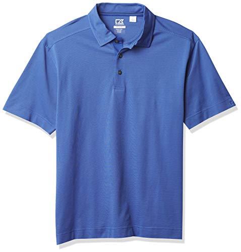 Cutter & Buck Men's CB Drytec Medina Tonal Stripe Polo, Tour Blue, Large