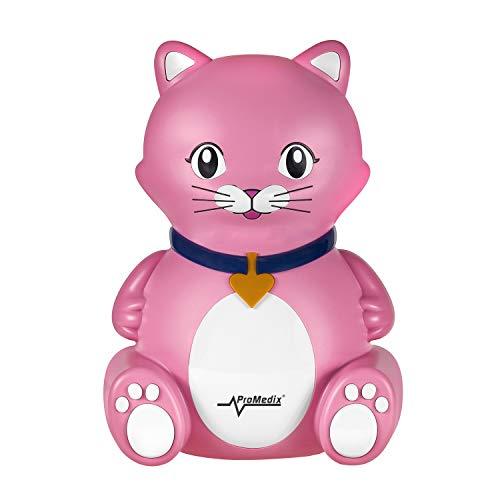 NEBULIZADOR INHALADOR para niños Gato de color rosa con elementos necesarios para inhalación