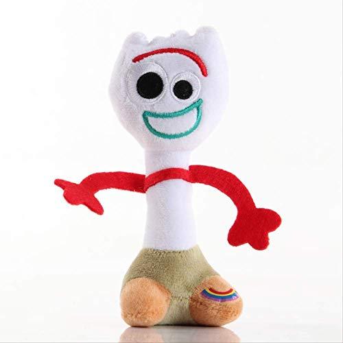 N / A Toy Story Plush Toy, Anime Toy Story Toy Forky Plush Toys, Premium PP Cotton Soft Toy Plush Doll, Muñecas De Peluche para Niños Regalo De Cumpleaños para Niños 35Cm Blanco