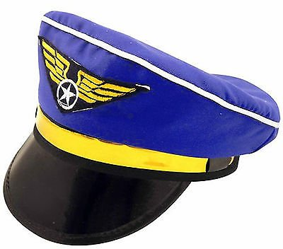 adulte PILOT AVION Chapeau de capitaine Bonnet Unisexe enterrement de vie de garçon accessoire déguisement # Pilot CHAPEAU ~h36159-150w270