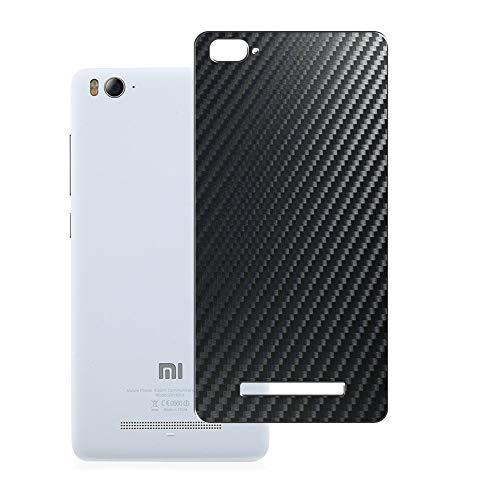 Vaxson 2-Pack Pellicola Protettiva Posteriore, compatibile con Xiaomi Mi 4i, Back Film Protector Skin Cover [ Non Vetro Temperato ] - Fibra di Carbonio Nera