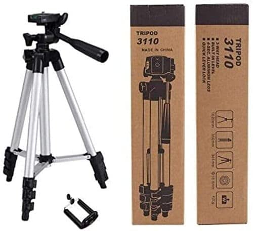 Lucrane 3110 Mobile and Camera Tripod – Universal Portable & Foldable Professional SLR DSLR Camera Stand for Photography and Videography Tripod