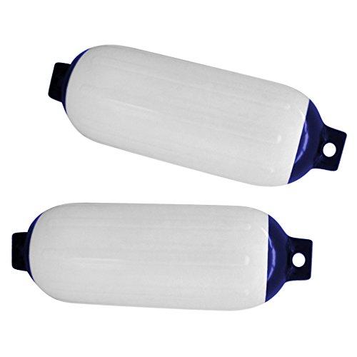 Almencla 2 Stü Schlauchboot Fender Cover, 4,5 X 15,5 Zoll, PVC Bumper Dock Schutz White & Blue