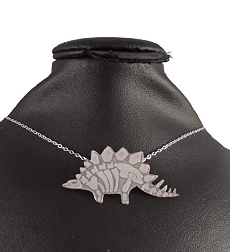 Sterling Silver Stegosaurus Fossil Necklace