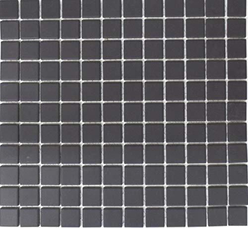 Mozaïek tegel keramiek zwart ongeglazuurd douchebak vloertegel MOS18B-0311-R10_f
