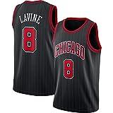 LZ123456 Camiseta De Baloncesto Chicago Bulls 8# Zach LaVine, Camiseta De Verano para Hombre, Camiseta Retro, Chaleco De Gimnasia, Camiseta Deportiva