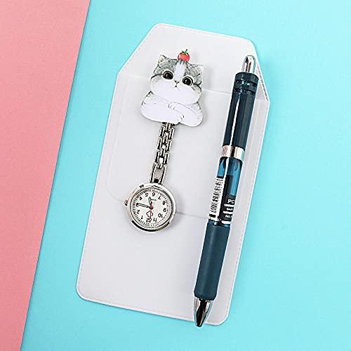 LLRR Mujer Niña Reloj Médico,Nightnómetro de Clip Impermeable Lindo Simple, Pecho de Examen de Estudiante-Negro,Reloj de Enfermera con Broche