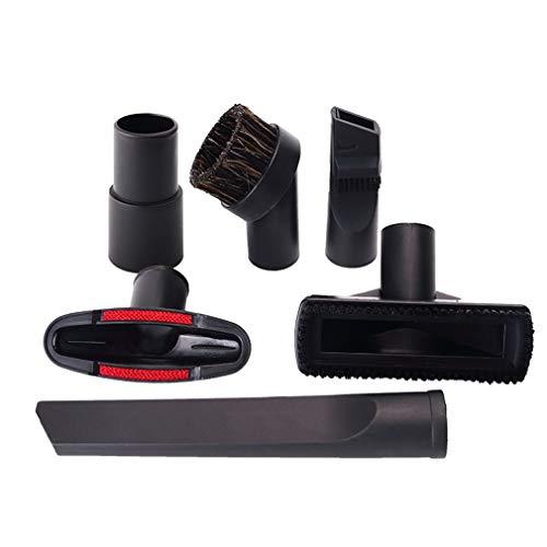 Universele Huishoudelijke Stofzuiger Accessoires Borstelkop Zuigkop Binnendiameter 32mm Hoek Zes Sets Zwart