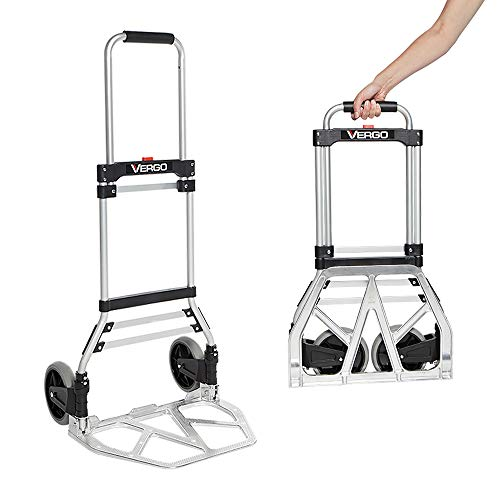 Vergo Industrial 275 lbs Capacity Folding Hand Truck Dolly (Model S300BT)