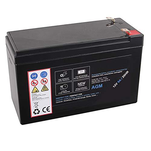 AGM Blei Akku 12V 9Ah 20HR Batterie Glasfaservlies Bleiakku Bleigel Vlies wartungsfrei Technik Universal 9000mah Lead Battery 12 Ah 9000 mah 12 Volt