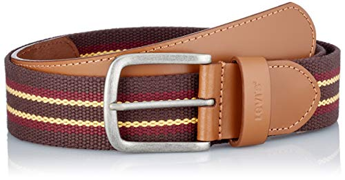 Levi's Herren Classic Leather & Webbing Belt Gürtel, Light Brown, 120