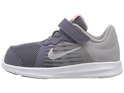 Nike Downshifter 8 (TDV), Zapatillas de Running Unisex niño, Gris (Light Carbon/Metalli 002), 23.5 EU
