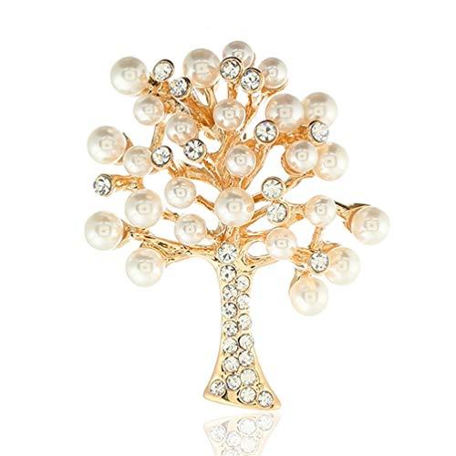 Brightness Uique Design Elegant brooches Arboles, Perlas, señoras, Indumentaria, Accesorios, Rosa, Oro.