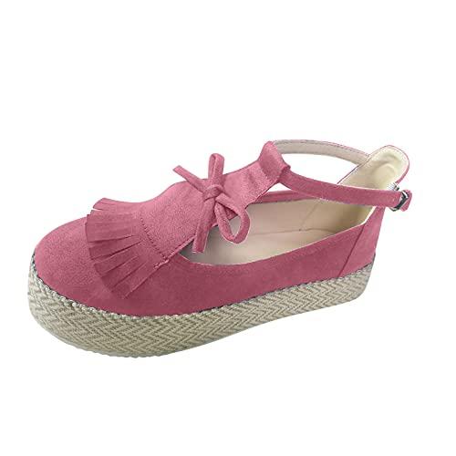 BFSAUHA Shoes for Women Flats Comfortable Water Shoes Blowfish Shoes for Women Flock (Pink,5.5)