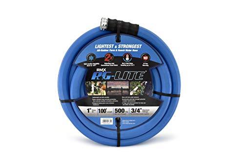 BluBird AG-Lite Rubber Hot & Cold Water Rubber Garden Hose: Ultra-Light & Super Strong - 2X the...