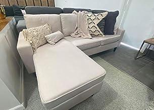 Susan Living Room L Shape Sofa Futon Sofa Bed Furniture BEIGE Color Living Room Sofa Set Home Furniture Corner Sofa Set Mo...