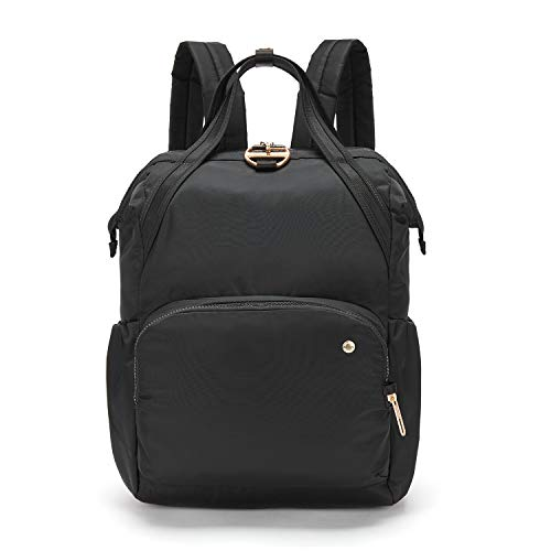 PacSafe Women's Citysafe CX 17L Anti Theft Backpack-Fits 16 inch MacBook Pro, Black, One Size