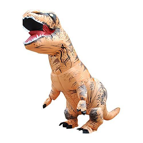 PopHMN Disfraz inflable de T Rex Disfraces de Navidad Dinosaurio - Disfraz de dinosaurio para niños adultos Ropa de Tyrannosaurus Rex - Disfraz divertido de T Rex Vestidos de mascarada-1,4 M/1,95 M