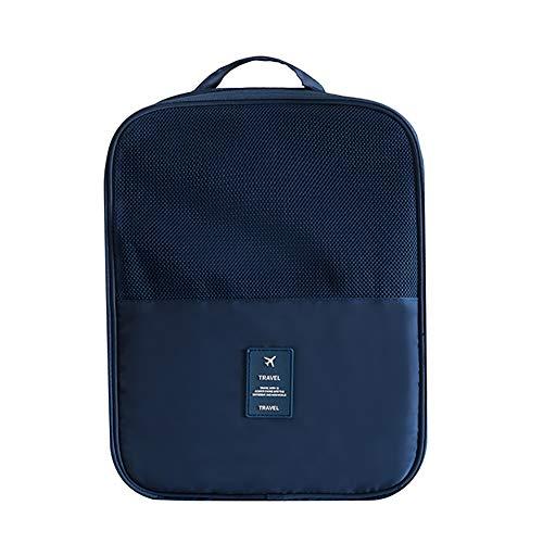 Yipianyun Bolsa De Zapatos Portátil De Viaje, Bolsa De Almacenamiento De Zapatos De Viaje con Cremallera Impermeable Zapatero Organizador Bolsas para Adultos,Azul