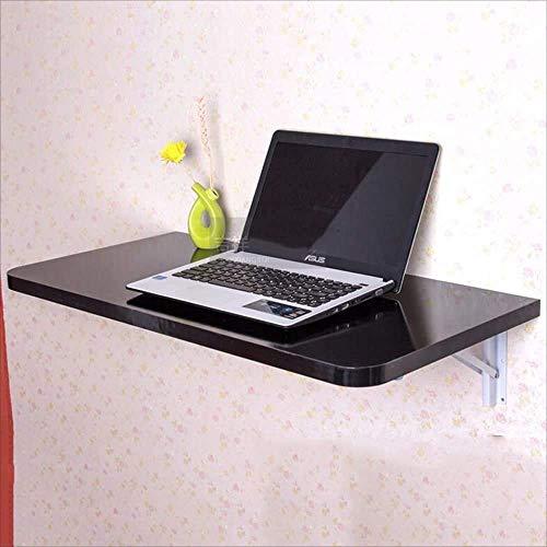 Nest Of Tables Mesas auxiliares Lapdesks Plegable, Pared, Escritorio Dropleaf montado en la pared, Escritorio de comedor de madera para cocina, 6 colores para todas las estaciones de trabajo, Negro,