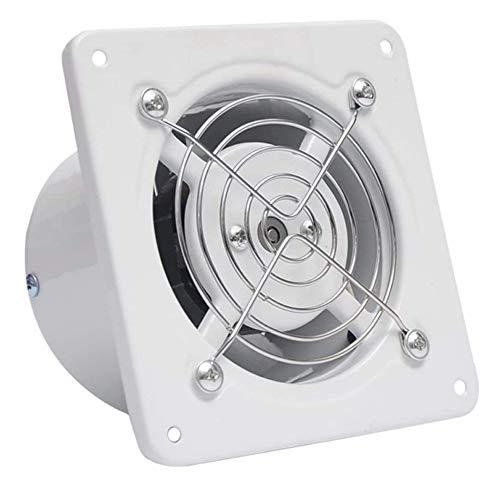JEONSWOD Ventilador Industrial de Cocina, Inodoro, Extractor, Extractor de Metal, Extractor de Aire Comercial, Ventilador Axial de 4 Pulgadas