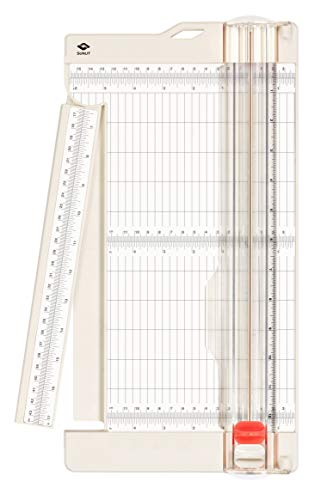 """Bira Craft Paper Trimmer and Scorer with Swing-Out Arm, 12"""" x 6"""" Base, Craft Trimmer, Trim and Score Board, for Coupons, Craft Paper and Photo"""
