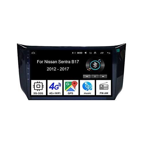 Autoradio Mit Navi Apple Carplay 9 Inch Pantalla Tactil para Coche Reproductor para Nissan Sentra B17 2012-2017 4 Cores 2G+32G Car Player Conecta Y Reproduce Coche Audio USB Cámara Trasera