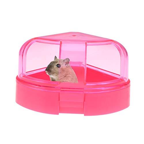 Balacoo Hamstersandbad-Chinchilla-Staubbad-Kunststoffsandbadbehälter Hamstersandkasten Kleintierbadewanne Hamstertoilette Heimtierbedarf