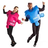 You Complete My Puzzle Couples Costume - Cute Pink & Blue Halloween Outfit
