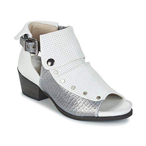 dkode Raelyn Sandalen/Sandaletten Damen Weiss/Silbern - 36 - Sandalen/Sandaletten Shoes
