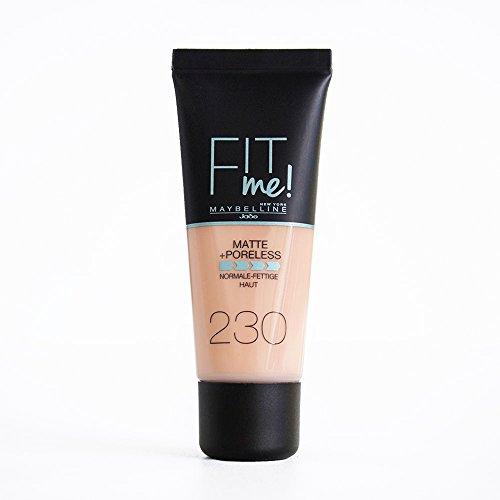 Maybelline Fit Me! Matte & Poreless Make-Up No. 230 Natural Buff Liquid...