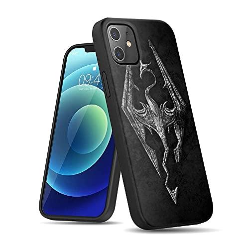 CBiBaMEi iPhone 12 Funda, Negra Silicona con Dibujos Diseño Ultrafina y Ligero Suave Carcasa Gel TPU Goma Protectora Piel Cover para iPhone 12#C010