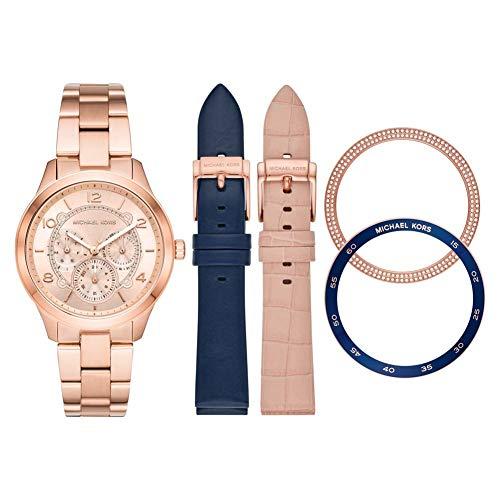 Michael Kors Reloj Analógico para Mujer de Cuarzo con Correa en Acero Inoxidable MK3983