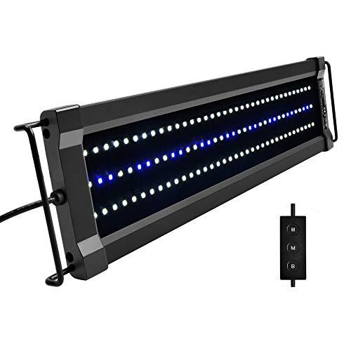 NICREW ClassicLED G2 Aquarium Beleuchtung, Steuerbar LED Lampe mit Mondlicht, IP67 Wasserdicht für Süßwasser-Aquarien, 45-60cm
