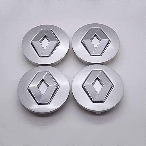 4pcs Coche eje de la rueda Tapas centrales para R-enault Koleos Duster Megane 60mm, a Prueba de Polvo Decorativa Accesorios De Estilo