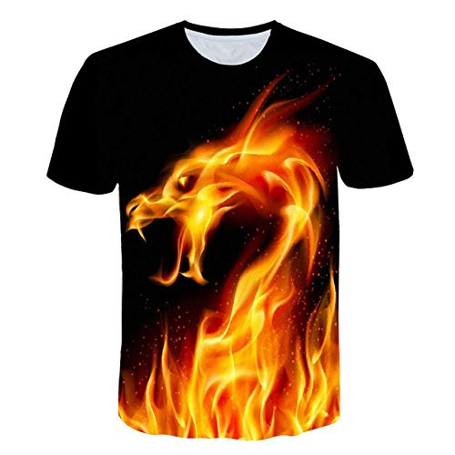 Blue Fire Snake T-Shirt Hommes Dragon Hip Hop Imprimé T-Shirt D'été T-Shirt D'été Marque Vêtements Tee Funny Fashion Chemises Tops 3D