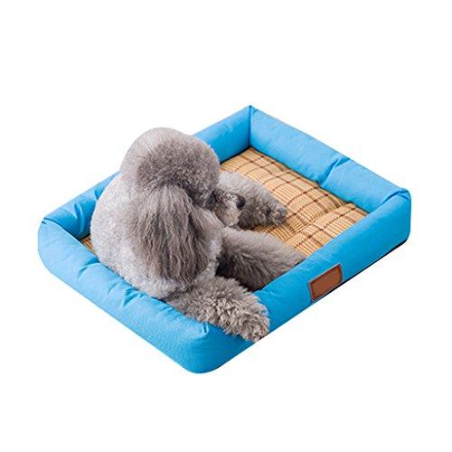 DS Haustier-Matte Pet Bett Hundematte Pet Mat Kühl Pet Schlafmatte Pet Waterloo Katze Hund Nest Pet Supplies Ruhematte (Farbe : Blau, größe : 40 * 30cm)
