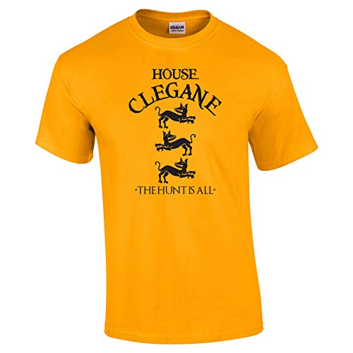 Swaffy Tees 12 House Clegane Funny Men's T Shirt Gold