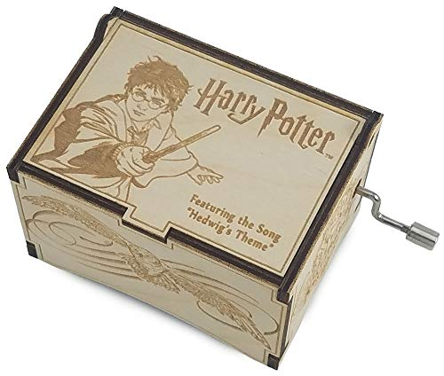 TheLaser'sEdge, Harry Potter Iconic with The Music of Hedwig's Theme, Personalizable Laser Engraved Music Box (Standard)