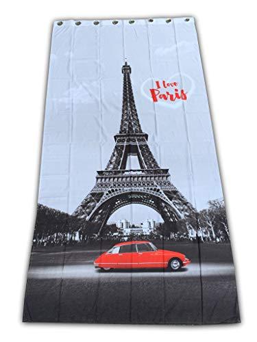 Rideau « Tour Eiffel, Paris, France » 140 x 280 cm emballé