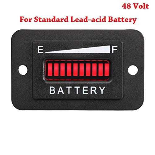 Find Bargain Searon 48V Volt LED Battery Indicator Meter Guage for EZGO Club Car Yamaha Golf Cart Mo...