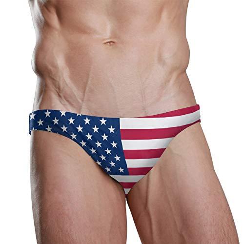 ZZKKO - Costume da bagno con bandiera nazionale, da spiaggia, da uomo, per nuotare e sport, Uomo, Bandiera americana., M